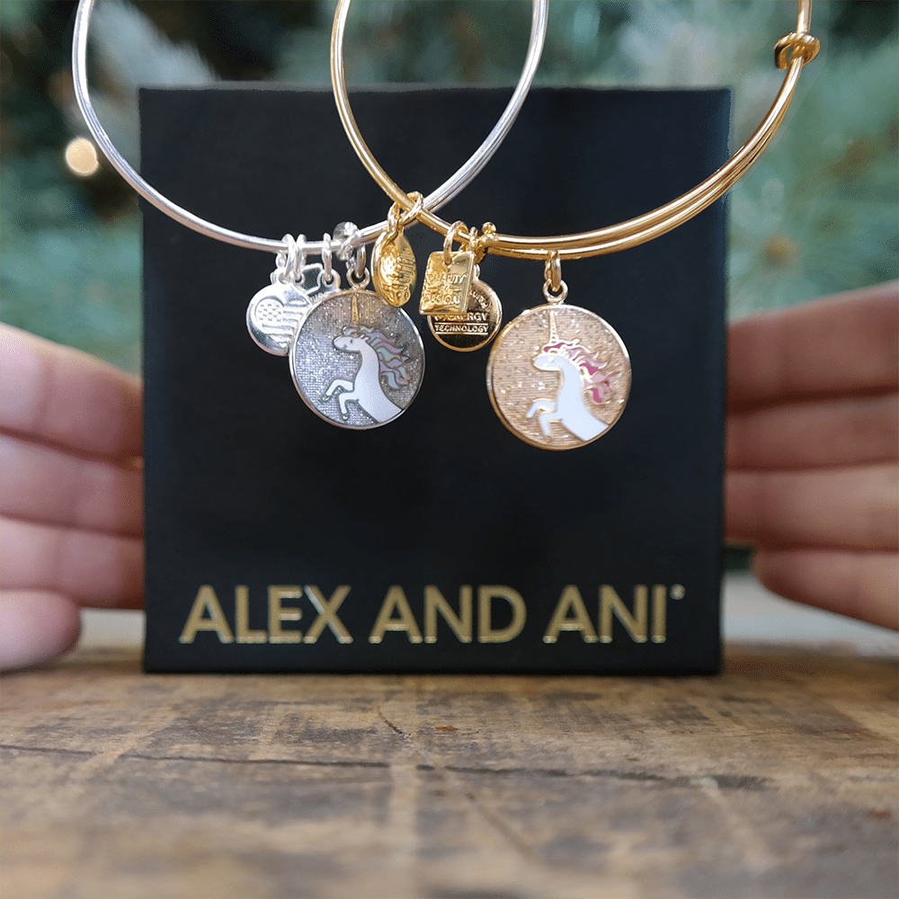 You Can Also Purchase The Alex And Ani Unicorn Charm Bangle For 38 00 Usd Available In Shiny Silver Yellow Gold Is Rumored To Hold