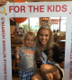 Miss America's Outstanding Teen, London Hibbs has a play date at Dallas Children's Health with Miss America, Nia Franklin