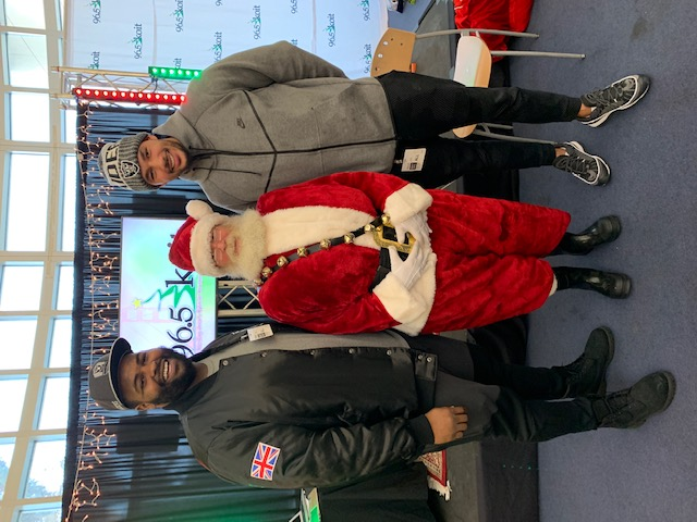 Just in time for the holidays, NFL players bring smiles and